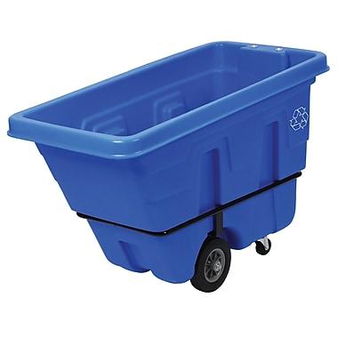 Continental – Chariot à bascule pour recyclage, bleu