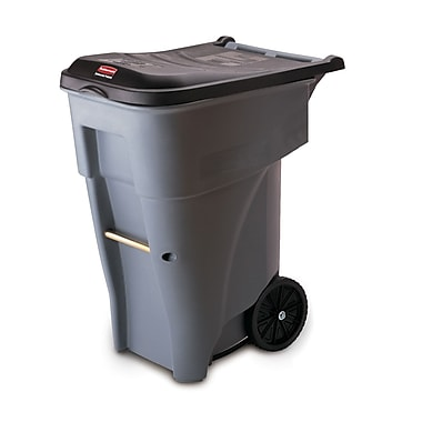 Rubbermaid Brute® Rollout Waste Receptacle Container, 246.1-Litre, Grey