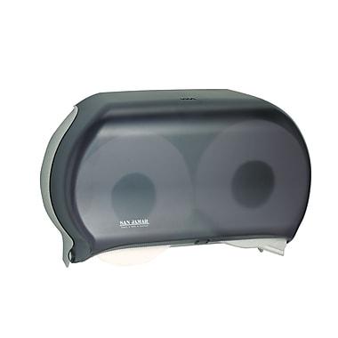 San Jamar – Distributeur pour rouleau de papier hygiénique double JBT, noir