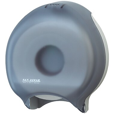 San Jamar Single Toilet Paper Roll Dispenser, Black