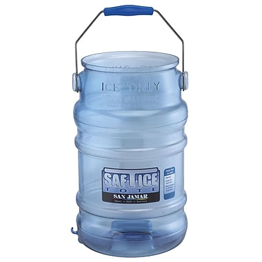 San Jamar Saf-T-Ice Tote Ice Carrier, 6 Gallon