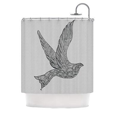 KESS InHouse Dove Shower Curtain