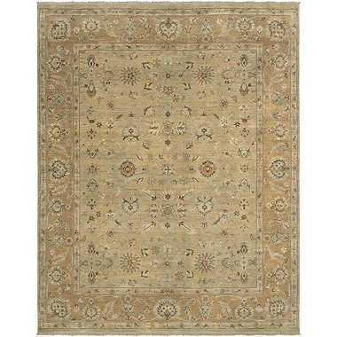 AMER Rugs Cillan Design Gold, Hand-Knotted Rug; Runner 2'6'' x 9'
