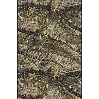 Milliken Realtree Hardwoods Solid Camo Area Rug; 5'4'' x 7'8''