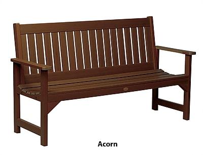 Buyers Choice Phat Tommy Wooden Lehigh Garden Bench; Acorn
