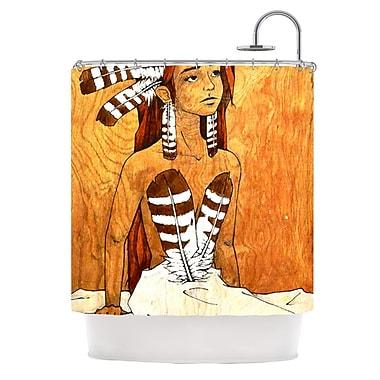 KESS InHouse Owl Feather Dress Shower Curtain