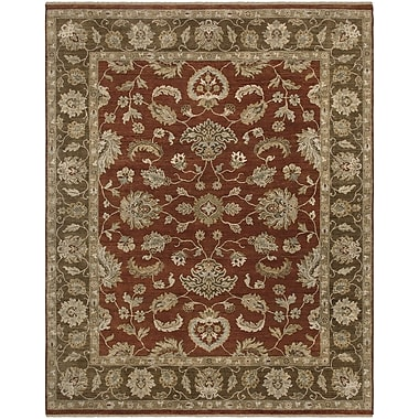 AMER Rugs Rojas Design Red Hand-Knotted Area Rug; 2' x 3'