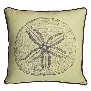 Kevin O'Brien Studio Nauticals Sand Dollar Throw Pillow; Aquarium