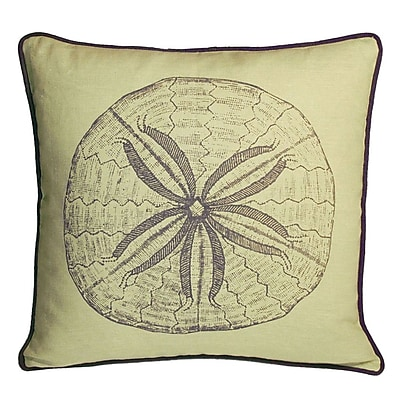 Kevin O'Brien Studio Nauticals Sand Dollar Throw Pillow; Aquarium