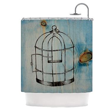 KESS InHouse Bird Cage Shower Curtain