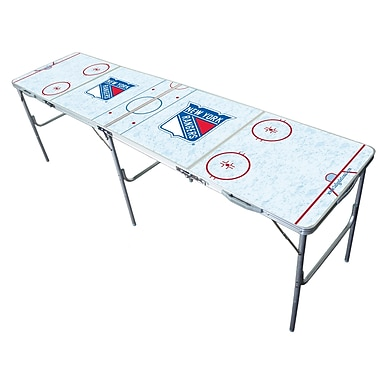 Tailgate Toss NHL 2'' x 8'' Tailgate Table; New York Rangers