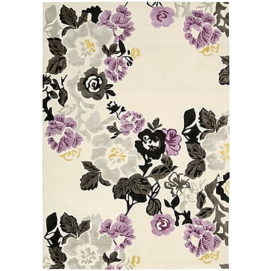 Nourison Wildflowers Ivory/Purple Area Rug; 9'6'' x 13'