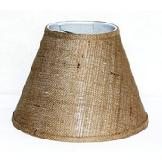 Lamp Factory 12'' Burlap Fabric Empire Lamp Shade