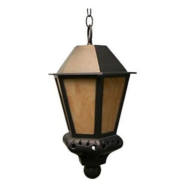 Melissa Tuscany 1-Light Outdoor Hanging Lantern; Rusty Nail