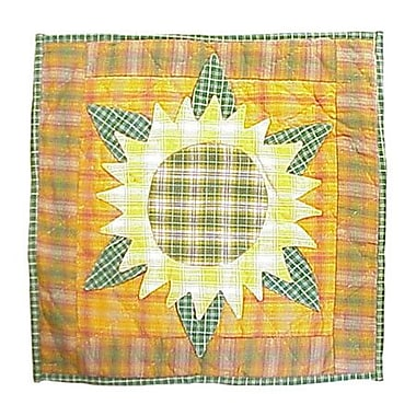 Patch Magic Sunflower Toss Cotton Throw Pillow