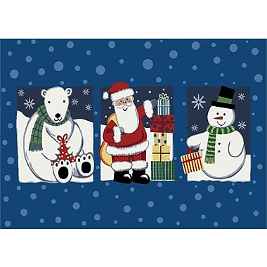 Milliken Winter Seasonal 'Tis The Season' Christmas Doormat; Rectangle 3'10'' x 5'4''