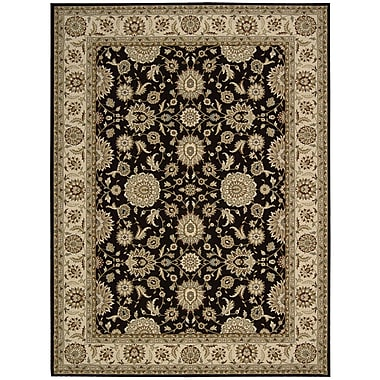 Nourison Persian Crown Black/Brown Area Rug; 7'10'' x 10'6''