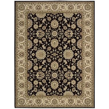 Nourison Persian Crown Black/Brown Area Rug; 3'9'' x 5'9''