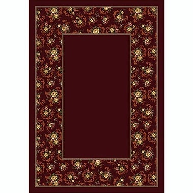 Milliken Design Center Garnet Cameo Rose Area Rug; Rectangle 3'10'' x 5'4''
