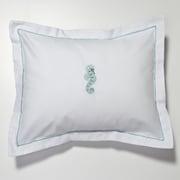Jacaranda Living Seahorse Percale Cotton Pillow Cover