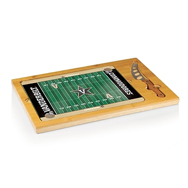 Picnic Time NCAA Football Icon Cutting Cheese Tray; Vanderbilt University Commodores