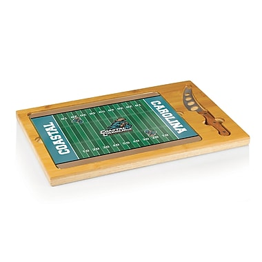 Picnic Time NCAA Football Icon Cutting Cheese Tray; Coastal Carolina Chanticleers