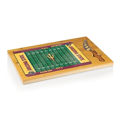 Picnic Time NCAA Football Icon Cutting Cheese Tray; Arizona State Sun Devils