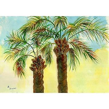 Betsy Drake Interiors Coastal Palms Doormat; Rectangle 30'' x 50''