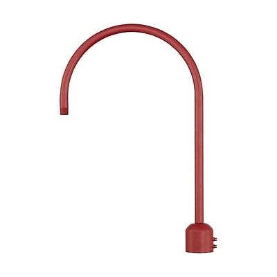 Millennium Lighting R Series Single Post Adapter; Satin Red