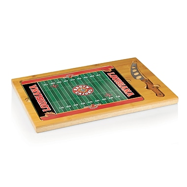 Picnic Time NCAA Football Icon Cutting Cheese Tray; University of Louisiana Ragin Cajuns
