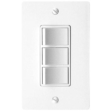 DewStop Combination 3-Function Fan Switch; White