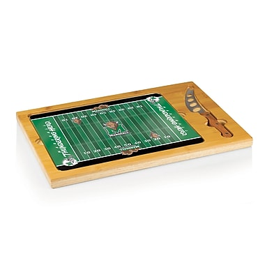 Picnic Time NCAA Football Icon Cutting Cheese Tray; Marshall University Thundering Herd