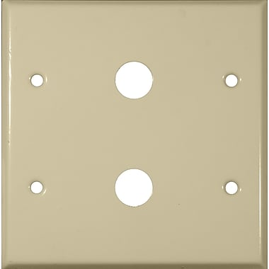 Morris Products 0.63'' Two Gang Cable Metal Wall Plates in Ivory
