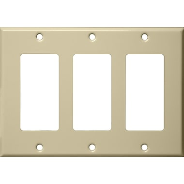 Morris Products Three Gang Decorator and GFCI Metal Wall Plates in Ivory