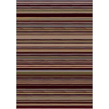 Milliken Innovation Lola Dark Chocolate Striped Area Rug; Rectangle 2'1'' x 7'8''