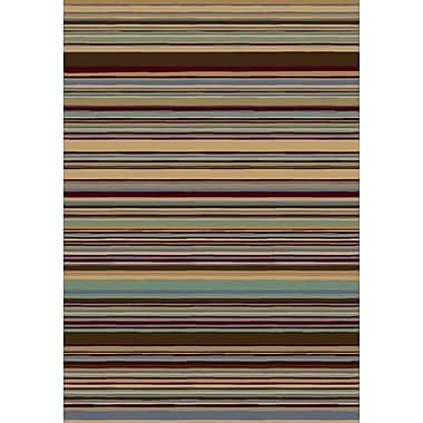 Milliken Innovation Lola Light Topaz Striped Area Rug; Oval 3'10'' x 5'4''