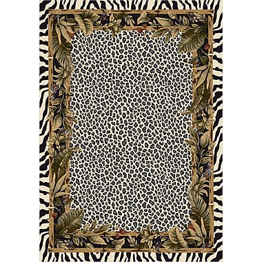 Milliken Signature Jungle Safari Snow Leopard Area Rug; Rectangle 7'8'' x 10'9''