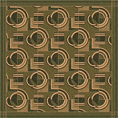 Milliken Pastiche Modernes Deep Olive Area Rug; Oval 5'4'' x 7'8''