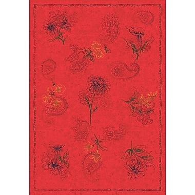 Milliken Pastiche Vintage Aurora Red Area Rug; Oval 7'8'' x 10'9''