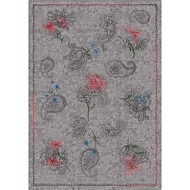 Milliken Pastiche Vintage Wispy Gray Area Rug; Rectangle 5'4'' x 7'8''