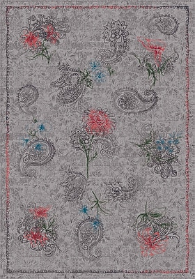 Milliken Pastiche Vintage Wispy Gray Area Rug; Rectangle 3'10'' x 5'4''