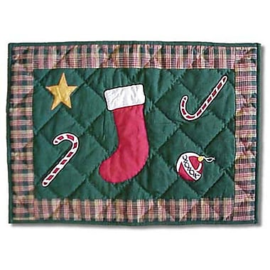 Patch Magic Santa by the Fireside Placemat
