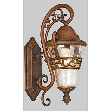 Kalco Anastasia 1-Light Outdoor Wall Lantern; Burnished Bronze