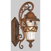 Kalco Anastasia 1-Light Outdoor Wall Lantern; Burnished Bronze
