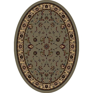 Milliken Signature Isfahan Sage Area Rug; Oval 3'10'' x 5'4''