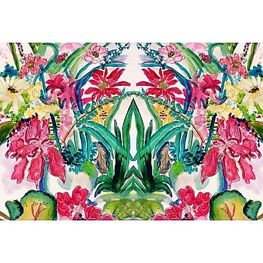 Betsy Drake Interiors Garden Multi Florals Doormat; Rectangle 30'' x 50''