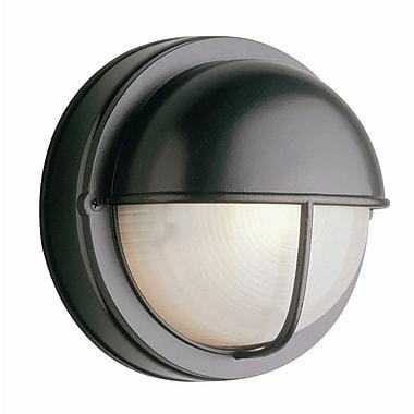 TransGlobe Lighting 1-Light Outdoor Flush Mount; Rust