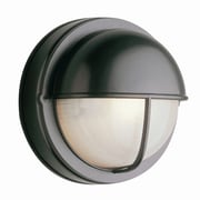 TransGlobe Lighting 1-Light Outdoor Flush Mount; Rust