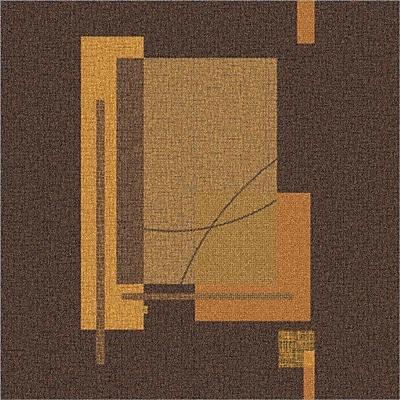 Milliken Pastiche Fairmont Brown Rug; Square 7'7''