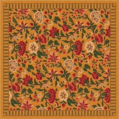 Milliken Pastiche Vachell Floral Gold Area Rug; Rectangle 2'8'' x 3'10''